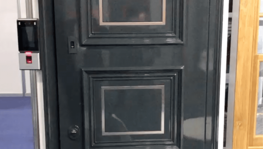 Security door with facial recognition system from Secure House