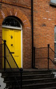 Rise and shine with a sunshine yellow door!