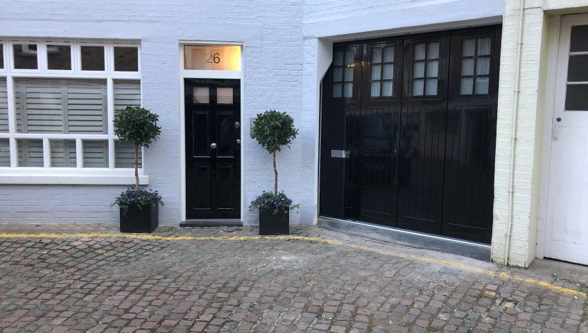 Security sliding garage doors