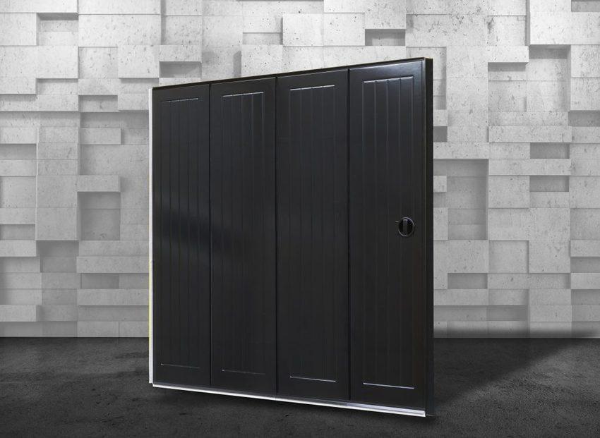 Ryterna Okoume side sliding doors 2 1024x748 - Side sliding garage doors: practical and easy to operate