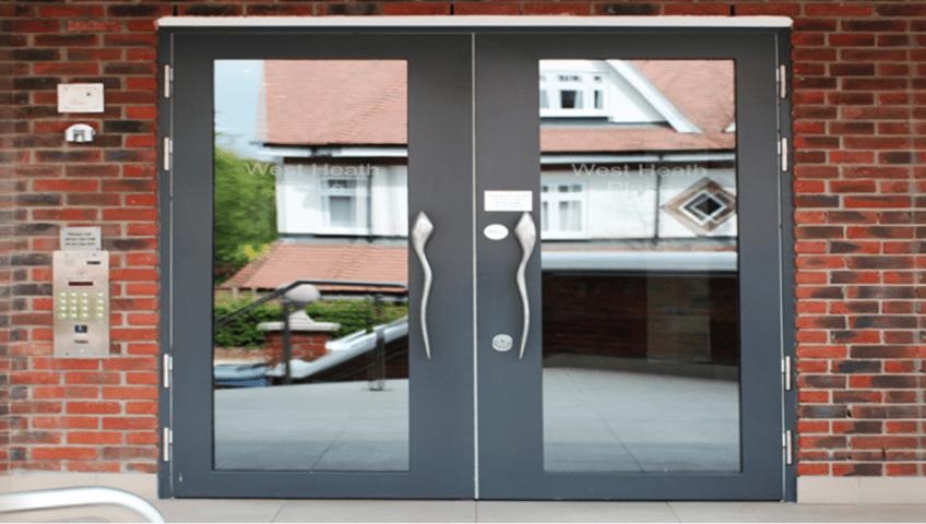 communal security entrance doors