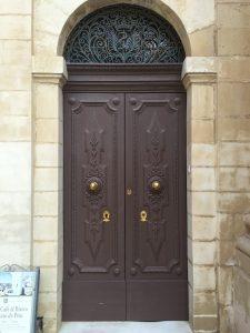 security door with detailed panels