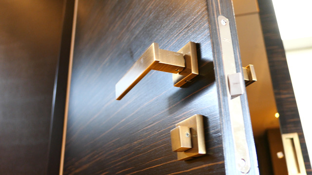 Penthouse doors upgraded with stunning veneer security and fire rated doors