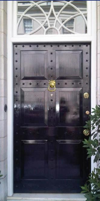 The brand new, replica conservation area door that Secure House created