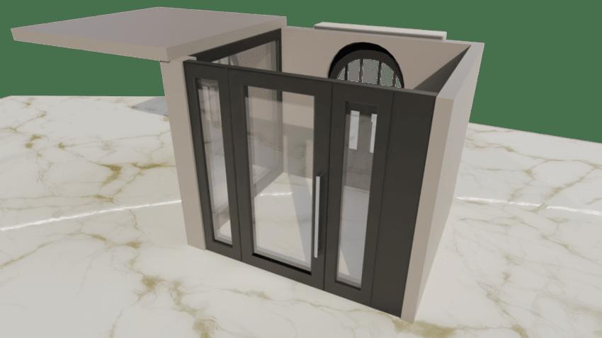 secure shop fronts 3D design service