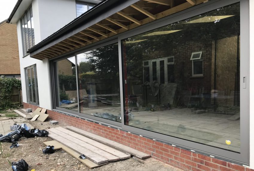 Let the light in with sliding doors or folding doors