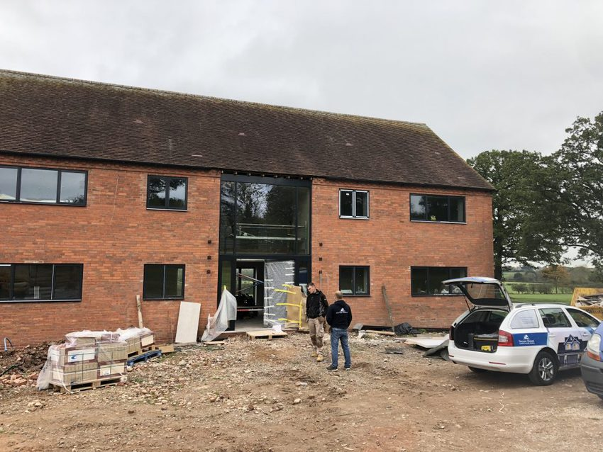 The front of the farmhouse starting to take shape!
