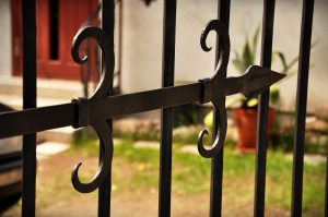 metal fence detail