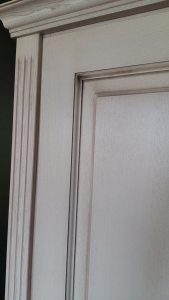 internal door patinated finish