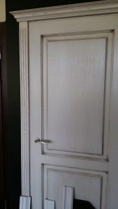 patinated finish internal door